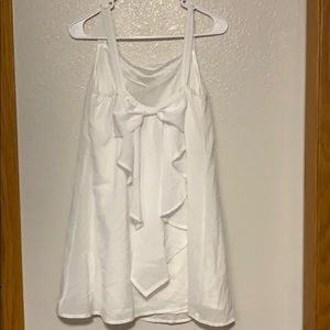White dress with BIG bow